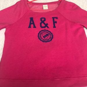 Pink Abercrombie & Fitch crew neck
